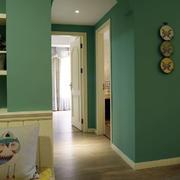 别墅浅绿色墙面展示