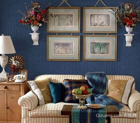 90平米别具一格的客厅背景墙设计效果图