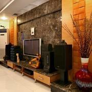 120平米客厅电视背景墙