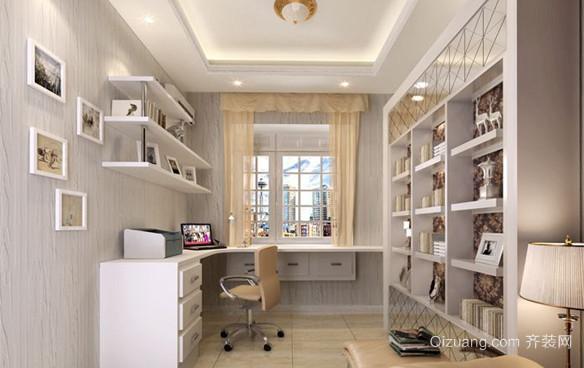 80平米小户型现代韩式风格书房设计装修效果图