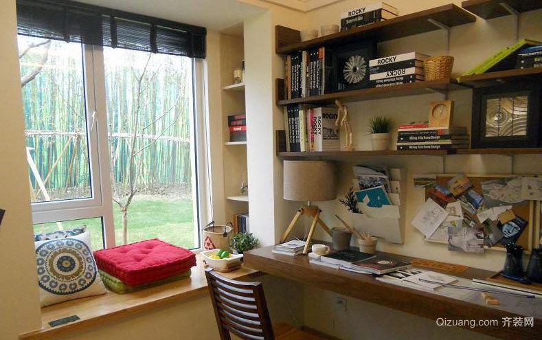 2015都市精致的舒适小书房设计效果图大全