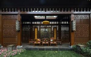 土豪家的新中式奢华庭院装修效果图