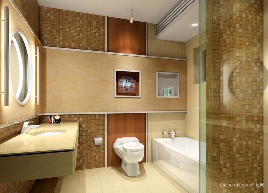 全新防滑地面洗手间设计装修效果图