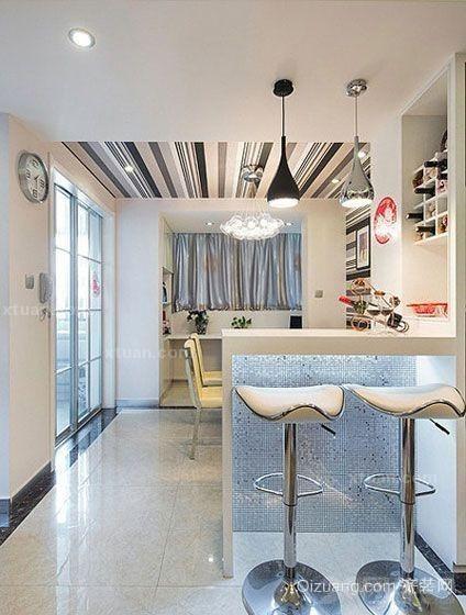 都市韵味十足的韩式风格吧台设计装修效果图鉴赏