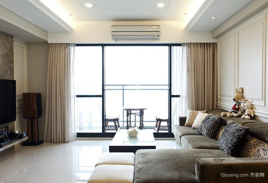 130平米宜居简约三室两厅家庭室内装修效果图