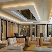 客厅方形吊顶装饰图