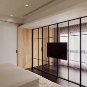 别墅卧室电视背景墙