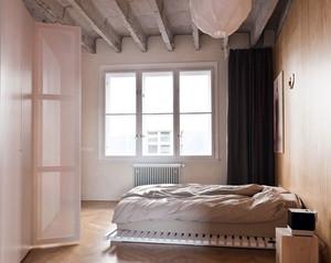 120平米混凝土不规则一体化混搭风格公寓装修效果图