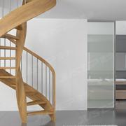 木质旋转楼梯