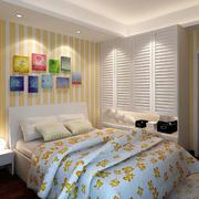 卧室暖色条纹设计