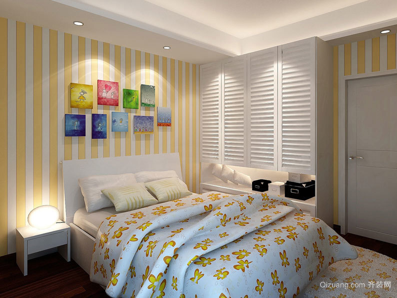 大户型使人细胞放松的卧室暖色系唯美背景素材