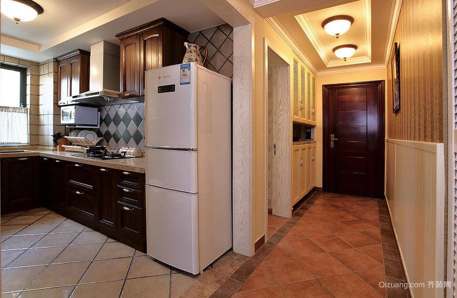 光辉绚丽的欧式开放式厨房装修效果图鉴赏