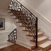 家居楼梯铁艺扶手设计