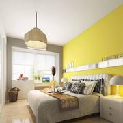 清爽暖色卧室