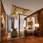卧室东南亚风格吊顶