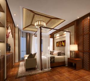 灿烂的文化 东南亚风格卧室背景墙装修效果图