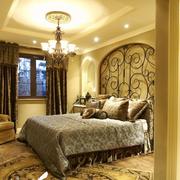 别墅奢华卧室窗帘展示