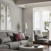 房屋客厅沙发背景墙装饰图