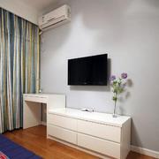 婚房客厅电视收纳柜设计