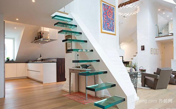 2015日式简约风格楼梯设计装修效果图大全