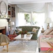 三室一厅纯美客厅装饰