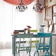 个三室一厅性家居餐厅灯饰设计