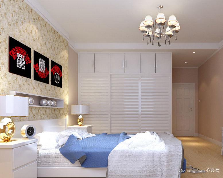 2015经济实惠的现代卧室墙贴效果图大全