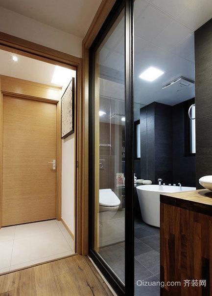 2015小户型舒适的卫生间隔断门装修效果图大全