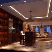 餐厅中式酒柜展示