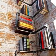 形状奇特的书房书架