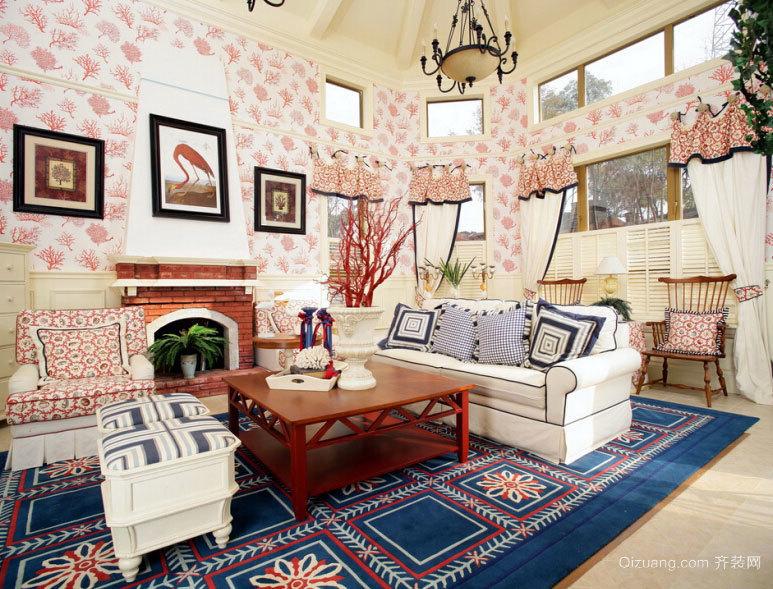 具有艺术气息的地中海风格农村家庭别墅室内装修效果图