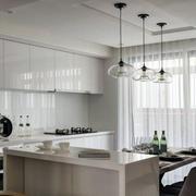 房屋开放式餐厅厨房效果图
