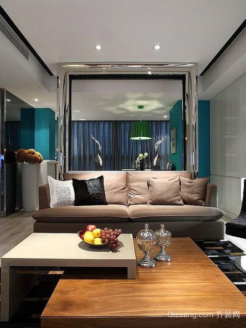 时尚大方的客厅玻璃隔断墙装修效果图大全