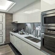 简约一字型家居厨房效果图