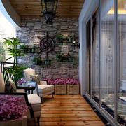 阳台花卉布置