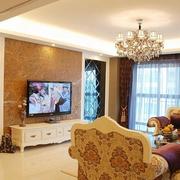 黄色温暖电视墙