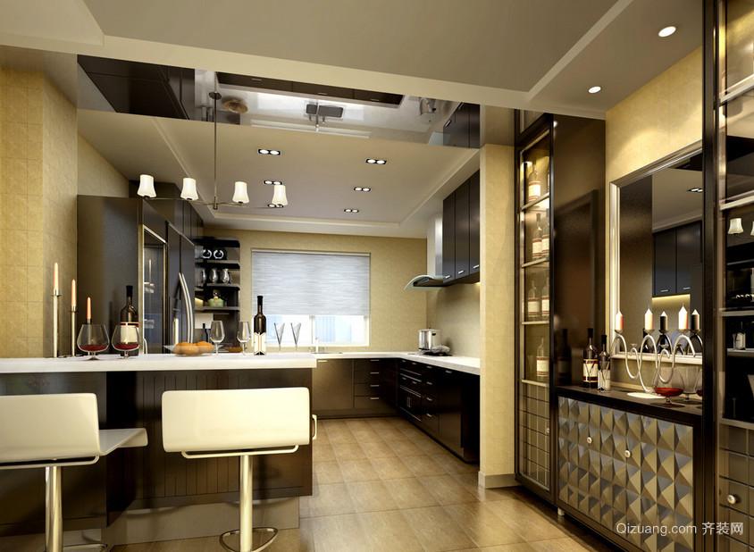 很有质感的现代都市风格厨房设计装修效果图鉴赏