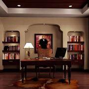 美式风格书房装饰图