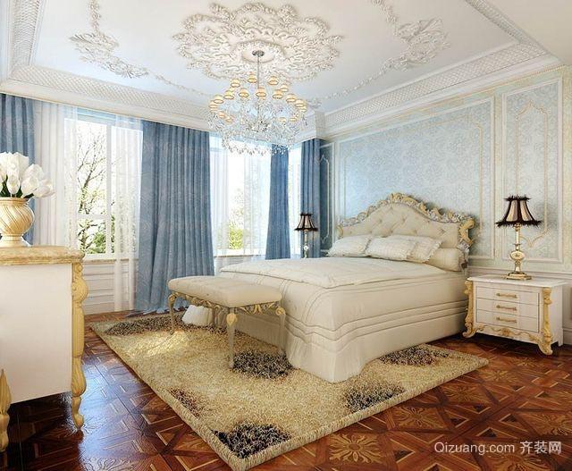 2015高贵大方的法式卧室背景墙装修效果图