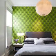 卧室绿色背景