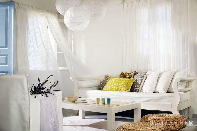 海边白色别墅装修设计效果图