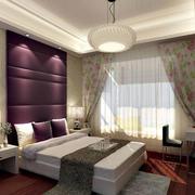 卧室紫色背景墙设计