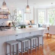 简欧风格厨房吧台设计