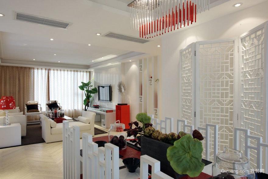 豪华唯美的现代客厅屏风隔断装修效果图大全