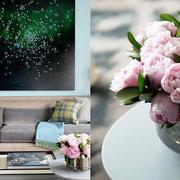 公寓客厅茶几花束装饰