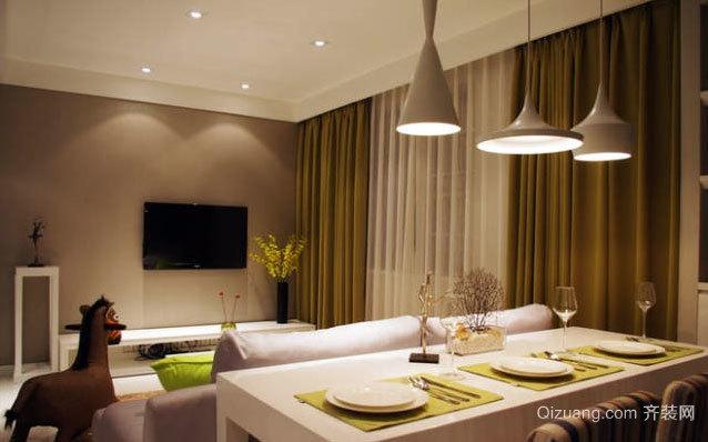 120平米清爽休闲的现代简约婚房装修效果图