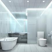 纯白大户型洗手间