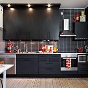 一字型厨房图片