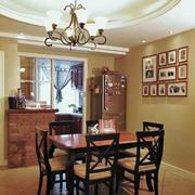 房屋餐厅木质餐桌椅设计