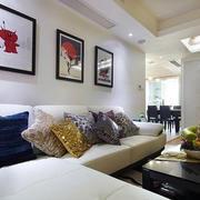 房屋客厅沙发背景墙